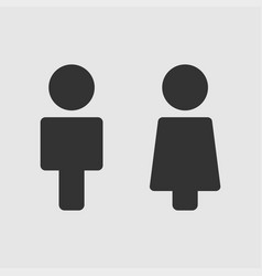 people icon man and woman icon on white background vector image