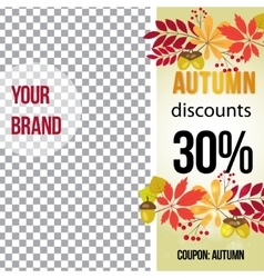 Photo frame for promotions autumn banner vector