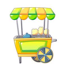 Popcorn shop icon cartoon style vector