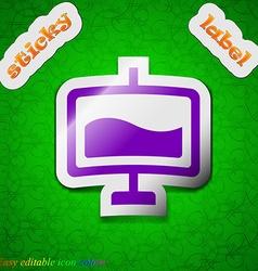 Presentation billboard icon sign Symbol chic vector image