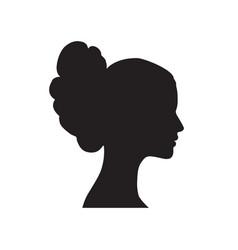 pretty girl profile woman portrait bride face vector image