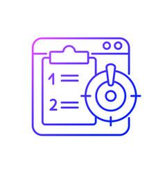 Priority task gradient linear icon vector