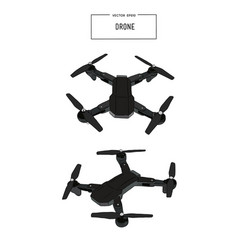 quadcopter and drone vector image