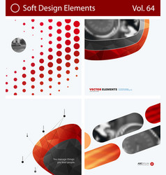 set of abstract design elements for graphic vector image