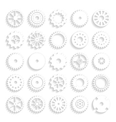 Set of gear wheels isolated on a background vector