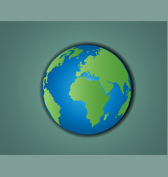 simple planet earth vector image