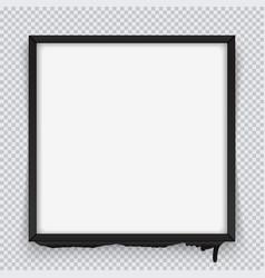 Square black frame on a transparent background vector