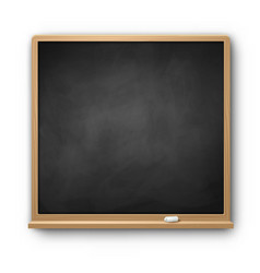 square chalkboard vector image