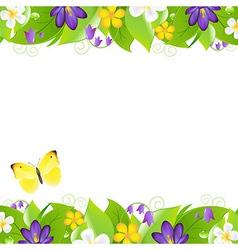 Summer flowers borders vector