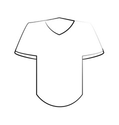 t shirt with v neck icon image vector image