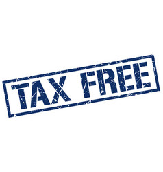 tax free stamp vector image