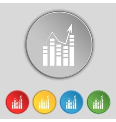 Text file icon add document with chart sign vector