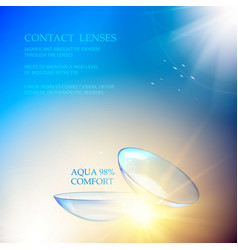 the contact lenses vector image