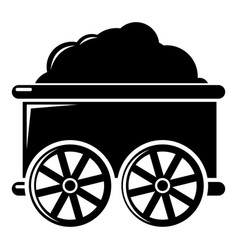 Train wagon icon simple style vector