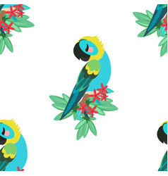 tropical parrot pattern vector image