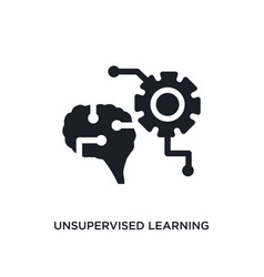 Unsupervised learning isolated icon simple vector