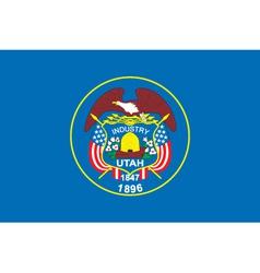 Utah flag vector image