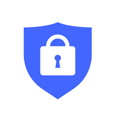 web security icon shield lock symbol guard badge vector image