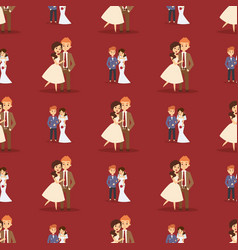 Wedding couple is hugging each other vector