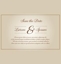 Wedding invitation style vector