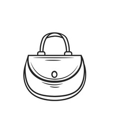Women bag outline vector