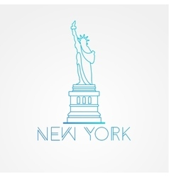 world famous statue liberty vector image