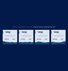 World water monitoring day with waving water vector
