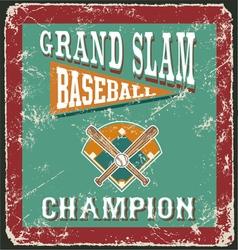 baseball grandslam card vector image vector image