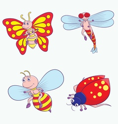insect cartoon vector image vector image
