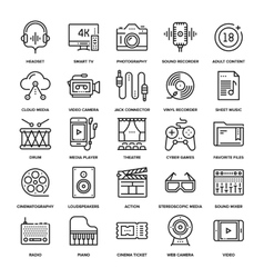 Media and Entertainment vector image