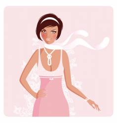 pink girl vector image vector image