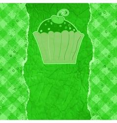 Retro Cupcakes Card vector image