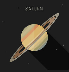 saturn planet vector image