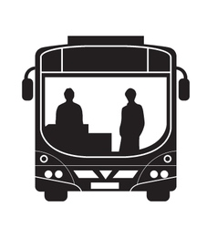 single deck bus with driver and passenger vector image