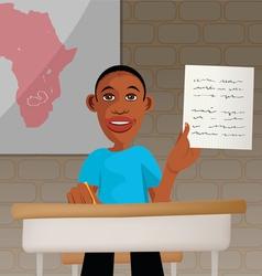 students school Africa vector image
