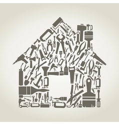 Tool the house vector image