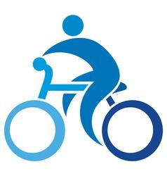 cyclist icon-bicycle symbol vector image vector image