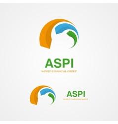 Design arrows logo element vector image