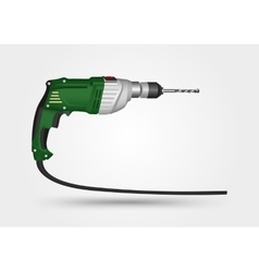 electric drill on a white background vector image