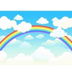 Rainbow sky vector image