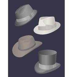 set of mens hats vector image