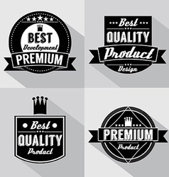 Set of Vintage Premium Quality Labels vector image