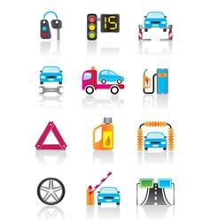 Car service auto assistance and auto accessories vector