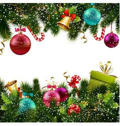 Christmas decoration border vector image vector image
