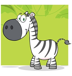 Smiling Zebra Character With Background vector image vector image