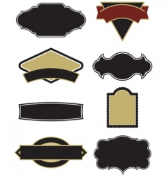 design elements for logos vector image vector image