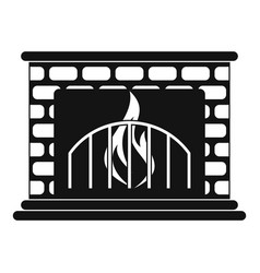Fireplace icon simple style vector
