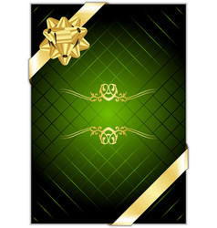 green gold present background vector image