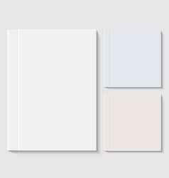 modern books or brochure on white vector image