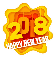 new year paper art vector image vector image
